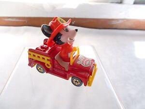 Disney Mickey Mouse Firetruck Die Cast Tomy Fire Truck Japan