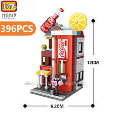 Loz Mini Blocks Diy Kids Adult Building Toys City Street Soda Store Shop View