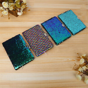 Kids Girls Magic Reversible Sequin Notebook Diary Lined A5 Journal With Lock&Key