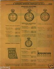 1915 PAPER AD Ingersoll Store Display Rack Sign Cabinet Showcase Pocket Watch