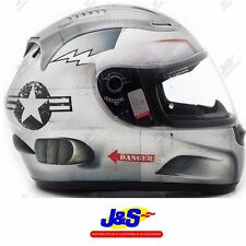 KBC VR1X TURBINE FULLFACE MOTORCYCLE MOTORBIKE CRASH HELMET RACE RACING LID J&S