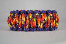 550 Paracord Survival Bracelet King Cobra Purple/Phoenix Sunrise Camping