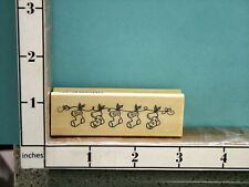 christmas stockings hung with care rubber stamp 17O