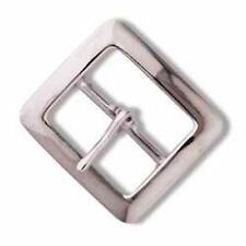 """Tandy Leather 1-1/2"""" Chap Buckle Nickel Plated 1586-00"""