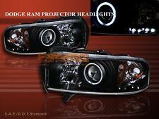 1994-2001 DODGE RAM PROJECTOR HEADLIGHTS HALO LED BLACK CCFL