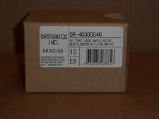 New Ortronics OR-40300546 Track Jack 4 Hole Faceplate Fog White Box of 10