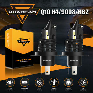 2x AUXBEAM H4 9003 HB2 LED Headlight Bulb High Low Beam 40W 6500K for Motorcycle