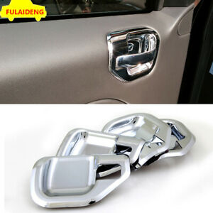 For Jeep Compass 2011-2015 ABS Chrome Inner Door Handle Bowl Decor Cover Trim