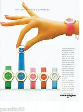 PUBLICITE ADVERTISING 115  1987  Courrèges  les montres SPI