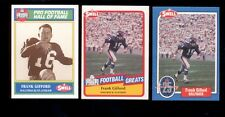 1988-1990 Swell FRANK GIFFORD New York Giants Hall of Fame 3 Card Lot