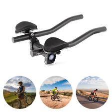 Racing Bike Bicycle Triathlon Aero Rest Handle Bar Clip On Tri Bars Black