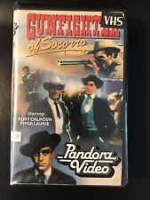 Gunfighter Of Socorro Ex-Rental Vintage Big Box VHS Tape English with dutch subs