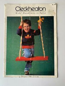 Cleckheaton Vintage CHILDREN'S KNITS PATTERN BOOK NO.416 SIZES 56-71 CM.8 PLY