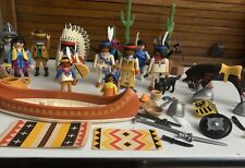 Vintage Playmobil  Native American Indian Playset , Plus Other Figures. Over 30