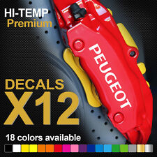 PEUGEOT 206 207 307 GTI HI-TEMP PREMIUM BRAKE CALIPER DECALS STICKERS CAST VINYL