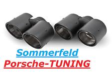 PORSCHE Carrera 997 mk1 + mk2 CARBON doppio terminali di scarico carbonio Double Tail Pipe