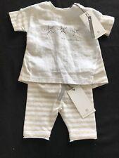 Bellybutton (Germany) NWT Organic Cotton Tan/White Stripe Top & Pants - Newborn