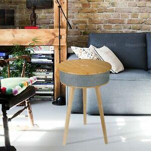 62cm Wood Smart Coffee Side Table Desk w/ 8W Speaker/Wireless 10W Phone Charger