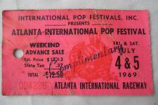 1969 Atlanta Pop Festival_Original Concert Ticket Stub_ Led Zeppelin