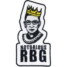 """Ginsburg Ruth Bader Notorious Rbg Iron-On / Sew-On Artwork Patch - 1.8"""" x 3.5"""""""