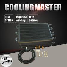 6 Row Aluminum Remote Transmission Oil Cooler Manual-Auto Radiator Converter Kit