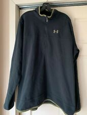 Under Armour Navy All Seasons Gear Loose Long Sleeve 1/4 Zip Pullover Xl - Nwt