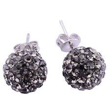 PAIR Stainless Steel Shamballa Crystal Disco Ball Ear Studs Earrings Jewelry