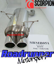 Scorpion SBMB051 BMW 316 E46 Back Box Exhaust Stainless Rear Silencer (98-2005)