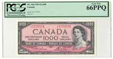 ✪ 1954 $1000 Bank of Canada Note Lawson-Bouey BC-44d - PCGS Gem UNC-66 PPQ