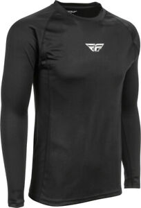 Fly Racing Lightweight Base Layer Top   Black   Choose Size