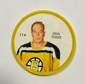 SHERRIFF Hockey Coins ORVAL TESSIER Coin #114 BOSTON BRUINS