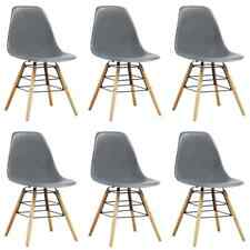 vidaXL 6x Dining Chairs Grey Dining Room Kitchen Living Room Side Chairs