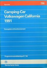 Manuel VW camping-car California 1991 programme autodidactique n°136 de 04 / 91