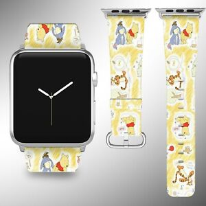 Winnie the Pooh Apple Watch Band Series SE 6 5 4 3 Leather iWatch 40 44 38 40 FB