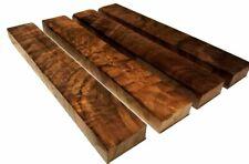 "Burled Highly Figured Walnut Lumber - 1"" x 2"" x 12"" (4 Pcs)"