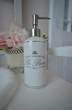 Clayre & Eef Seifenspender Le Bain Paris Keramik Landhaus Shabby Vintage