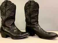 Ariat Heritage Womens 8.5 Black Leather R Toe Cowboy Western Pull-On Boots