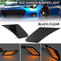 2x LED Side Marker Bumper Light Lamp For Toyota 86 Subaru BRZ Scion FR-S 12V