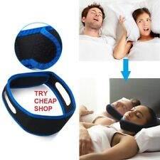 Anti Snore Sleep Apnea Stop Snoring Strap Belt Jaw Solution Chin Support - UK