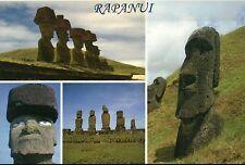 Rapanui, Easter Island, Osterinsel, Moai, Monolithic Statues, Stone --- Postcard