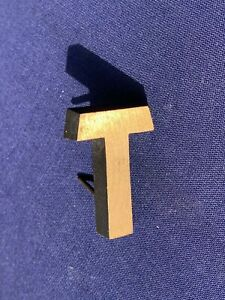 Letter T Vintage 1980's Metal Letters Made in Europe Initial Hand Made 3D