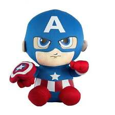 TY Marvel Beanies Babies Captain America Plush Doll Toy Authentic