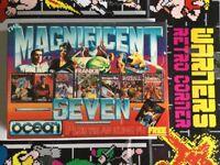 Commodore 64 Disk Disc Magnificent Seven Rare Retro gaming Game W/ Manual Boxed