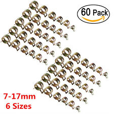 60pcs 7-17mm 6 Size Car Spring Clip Fuel Oil Water Hose Pipe Tube Clamp Fastener