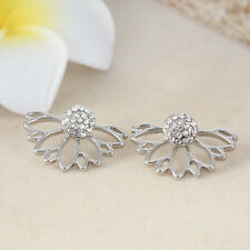 Fashion Jewelry 1 Pair Women Elegant Crystal Rhinestone Ear Stud Earrings RS122