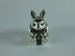Pandora Genuine ALE 925 Silver Easter Bunny Charm # 791121 Retired!