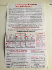 Cincinnati Reds 1978 Ticket Brochure Riverfront Stadium