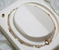 14k Yellow Gold Filled GF 2mm Bead Anklet Thin Minimalist Tiny Dainty Any Size