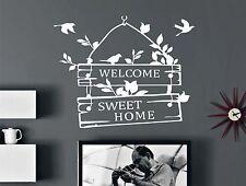 WD Wandtattoo WELCOME SWEET HOME Wandsticker Deko Zimmer Wohnraum Sprüche Tür