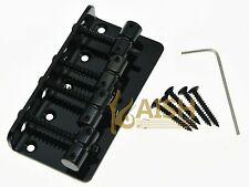 Black 4 String Electric J Bass or P Bass Bridge for Jazz/Precision Bass Guitar